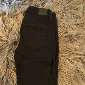 American Eagle Next Level Stretch Black Jeans